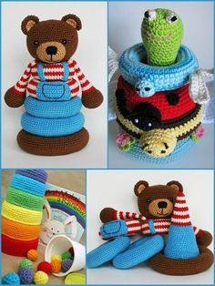 Crochet toys 425801339766936913 - Stacking Toys [Crochet Patterns and Free Crochet Patterns] Source by MyriamLakraa Crochet Baby Toys, Crochet Toys Patterns, Crochet Gifts, Crochet For Kids, Crochet Dolls, Baby Knitting, Crochet Quilt, Crochet Yarn, Free Crochet