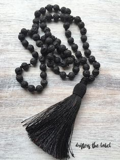 Your place to buy and sell all things handmade Men Necklace, Tassel Necklace, Colour Black, Mother Earth, Necklace Lengths, Lava, Tassels, Connection, Strength
