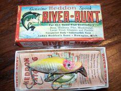antique vintage heddon fishing lure