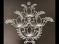 latest shanku kolam designs with7x4 dots for navarathri festival - easy rangoli designs - muggulu - YouTube