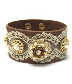 Leather & Lace Snap Cowgirl Bracelet