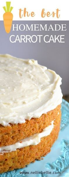 This is the BEST carrot cake recipe out there. Easy, classic, and delicious. Jus… This is the BEST carrot cake recipe out there. Easy, classic, and delicious. Just like Grandma's! You will never look for another one again! Homemade Carrot Cake, Homemade Cake Recipes, Baking Recipes, Simple Carrot Cake Recipe, Carrot Cakes, Easy Carrot Cake Recipe From Scratch, Carrot Cake Recipes, Strawberry Frosting Recipes, Sweets