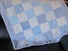Griffin's blue textures quilt
