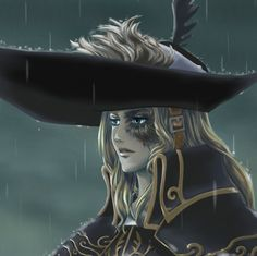 It's always raining around Drangleic castle. I wonder if she travelled there during her journey.