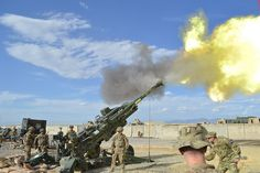 The Army wants a cannon that can fire a round over miles, and one reason would be to fire on Chinese warships in the South China Sea. Military Photos, Us Military, Us Army, Army Mom, Vietnam Veterans, Vietnam War, Chain Of Command, Us Senate, Staff Sergeant