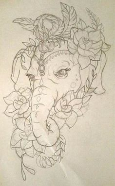Tattoo elephant drawing trunks 46 Ideas for 2019 Cat Tattoo Designs, Elephant Tattoo Design, Tattoo Design Drawings, Elephant Tattoos, Elephant Art, Pencil Art Drawings, Tattoo Sketches, Drawing Sketches, Elephant Drawings