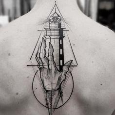 Sketch style lighthouse by Frank Carrilho