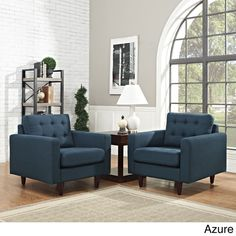 $655 Modway 'Empress' Deep Tufted Arm Chairs (Set of 2)