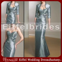 Wholesale Bride Dress - Buy 2014 Vintage Mother of The Bride Dresses with A Mini Jacket And Embellished Hand-made Flowers Pick-ups Floor Length Formal Evening Dresses, $96.59   DHgate
