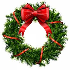 Elegant Christmas wreath with stars and bow. Description from clipart.me. I searched for this on bing.com/images