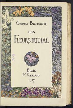 Charles Baudelaire, Fleurs du mal, Paris : F. Ferroud, 1917