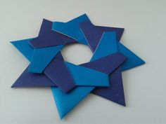 How to make an Origami Robin Star оригами звезда