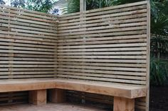 oak trellis and benches