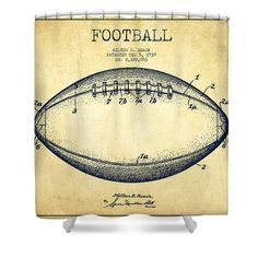 Football Shower Curtains   American Football Patent Drawing From 1939 Shower  Curtain By Aged Pixel. Teen Boy RoomsTeen BoysFootball ...