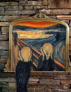 House - the shadow self Scream Parody, Scream Art, Le Cri, Popular Paintings, Expressionist Artists, The Secret Doctrine, Inspiration Art, Arts Ed, Van Gogh