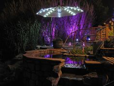 Night lights at Riverbend Hot Springs in Truth or Consequences NM