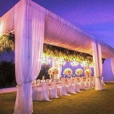 Evening outdoor wedding inspiration.. So intimate we love  Image via @karentranevents  #weddings #outdoorwedding #idonigeria