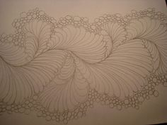 The Nifty Stitcher: Feather practice plus a link to artist Karen McTavish showcasing Victorian feathers. Machine Quilting Patterns, Longarm Quilting, Free Motion Quilting, Quilt Patterns, Henna Patterns, Quilting Tutorials, Quilting Ideas, Quilt Stitching, Zentangles