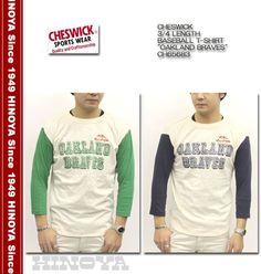 CHESWICKチェスウィック3/4LENGTHBASEBALLT-SHIRT『OAKLANDBRAVES』