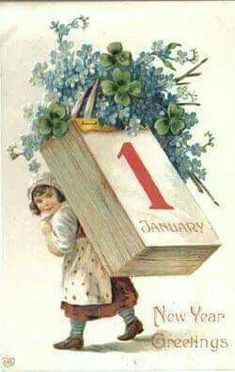 vintage happy new year postcard Vintage Happy New Year, Happy New Year Cards, New Year Wishes, New Year Greetings, Victorian Christmas, Vintage Christmas Cards, Vintage Holiday, Holiday Cards, New Year Postcard