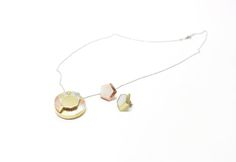 Diamond-diamond shaped/round brilliant cut/brass/red copper/silver/nickel/meta marriage/soldering/necklace/earring/jewelry set