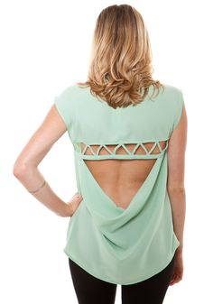 geometric blouse back