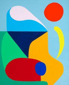 © Stephen Ormandy ~ Surf check ~ 2014 Oil on linen at Olsen Irwin Gallery Sydney Australia Geometric Artwork, Geometric Painting, Oil Painting Abstract, Abstract Art, Art Deco Paintings, Polygon Art, Poster S, Art Inspo, Art Lessons