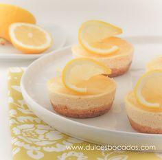 Mini cheesecake de limón