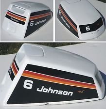 Johnson Outboard Hood Decals 6 Hp 1975 Outboard Johnson Outboard Motors