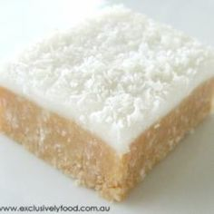 Lemon Coconut Slice @ allrecipes.com.au        Uses arrowroot (baby) cookies.  Really good - nice & lemony, even without the lemon peel.  The base is soft - perhaps my can of Eagle Brand was too big?