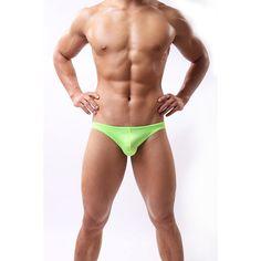 Men's Low Rise Swimwear Briefs Bikini Beach Pants Bulge Pouch Underwear Shorts…