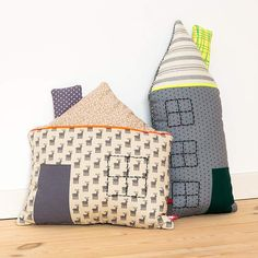 DIY: House pillow I'd probably go with black and white material with some writing or something on them
