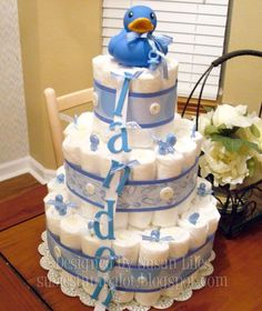Diaper Cake, Very simple and clean