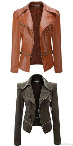 La chaqueta de la cremallera del cuero de la PU de la moda cubre la chaqueta 7213e8be8bd3
