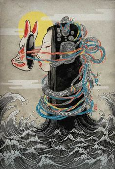 Science Fiction! (.. or something like it) by Yuko Shimizu, via Behance