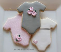 Christy's Savories: Pink & Grey Baby Cookies
