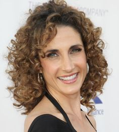The Best Curly Hairstyles for Women Over 50: Melina Kanakaredes