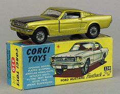No.320 Pre-production trial colour Ford Mustang Fastback - metallic gold, black bonnet and interior, cast wheels