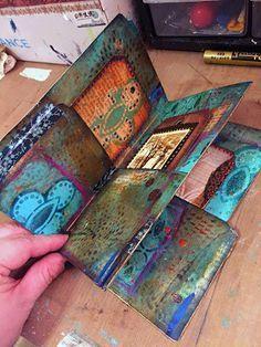 StencilGirl Talk: Gwen's Gems: File Folder Mini Art Journal
