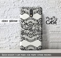 Black&White Lace case for Moto G3-Motorola Droid by MrMrsCASE