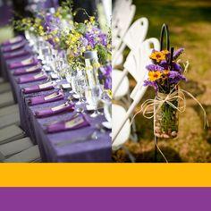 Cores para decoração de casamento