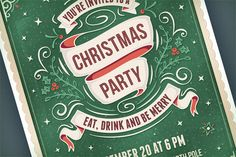 Christmas Party Invitation by Swedish Points on Creative Market