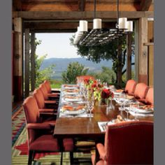 Pretty sure this is my dream dining room (overlooking a vineyard).