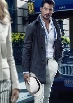 """David Gandy for Massimo Dutti """"NYC collection"""" spring 2014 campaign-I love this look-Simple Sophistication David Gandy, Fashion Moda, Mens Fashion, Male Fashion Trends, Dolce E Gabbana, Sharp Dressed Man, Gentleman Style, True Gentleman, Perfect Man"""