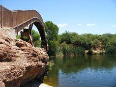 The footbridge at Patagonia Lake   Patagonia, AZ.   We went here when we lived in Arizona!!!