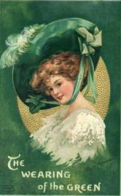 These free vintage St. Patrick's Day greeting cards feature pretty Irish women from the to the Century, celebrating the holiday that honors Saint Patrick of Ireland.