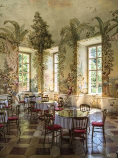 The garden pavilion with frescoes by Johann Wenzel Bergl, Melk Abbey, Austria