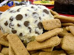 Chocolate Chip Cheeseball - YUM! This would be great to take to a Super Bowl Party to share!