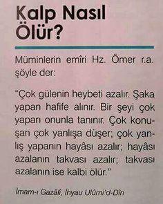 Kalp nasıl ölür ? Muslim Pray, Hafiz, Allah Islam, Quotes About God, Meaningful Words, Self Development, Islamic Quotes, Beautiful Words, Cool Words
