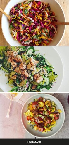 The sweltering Summer is the perfect time of year to enjoy the refreshing taste of a cool and crisp salad. These healthy meals are perfect for lunch, dinner, Healthy Snacks, Healthy Eating, Healthy Recipes, Good Food, Yummy Food, Tasty, Summer Salads, Soup And Salad, Salad Recipes
